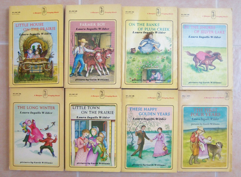 Set Of 8 Laura Ingalls Wilder Books Little House On The Prairie