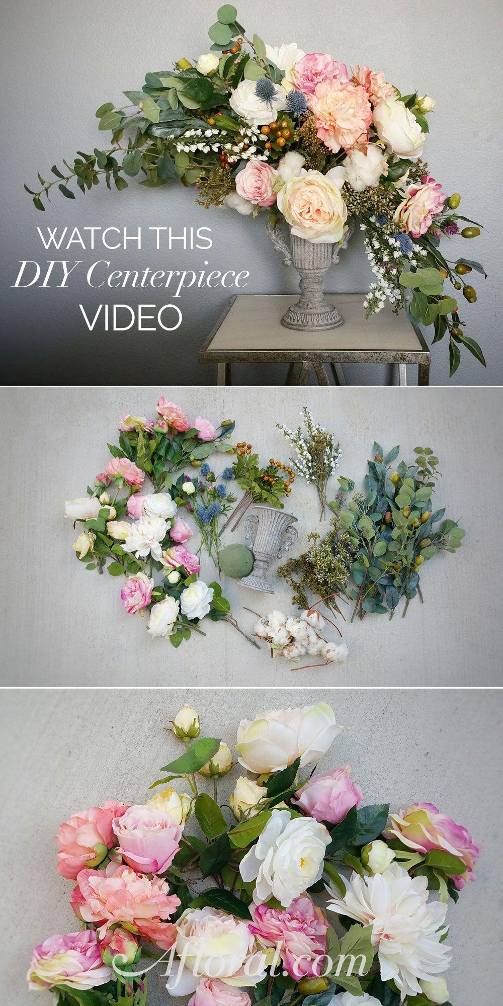How To Make A Centerpiece Faux flower arrangements