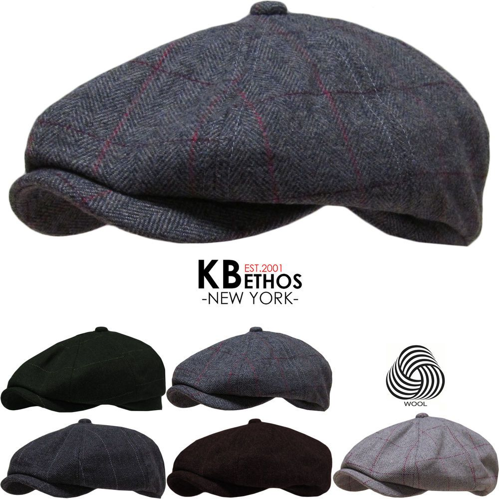 52b8f9af Details about Newsboy Wool Felt Gatsby Cap Mens Ivy Hat Golf Winter ...