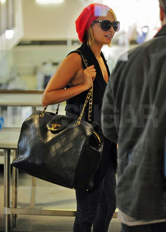 db33f65518a1 Pictures of Nicole Richie Departing Out of LAX With a Large Chanel Bag