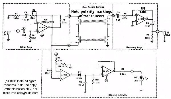 Hot Springs Reverb Schematic