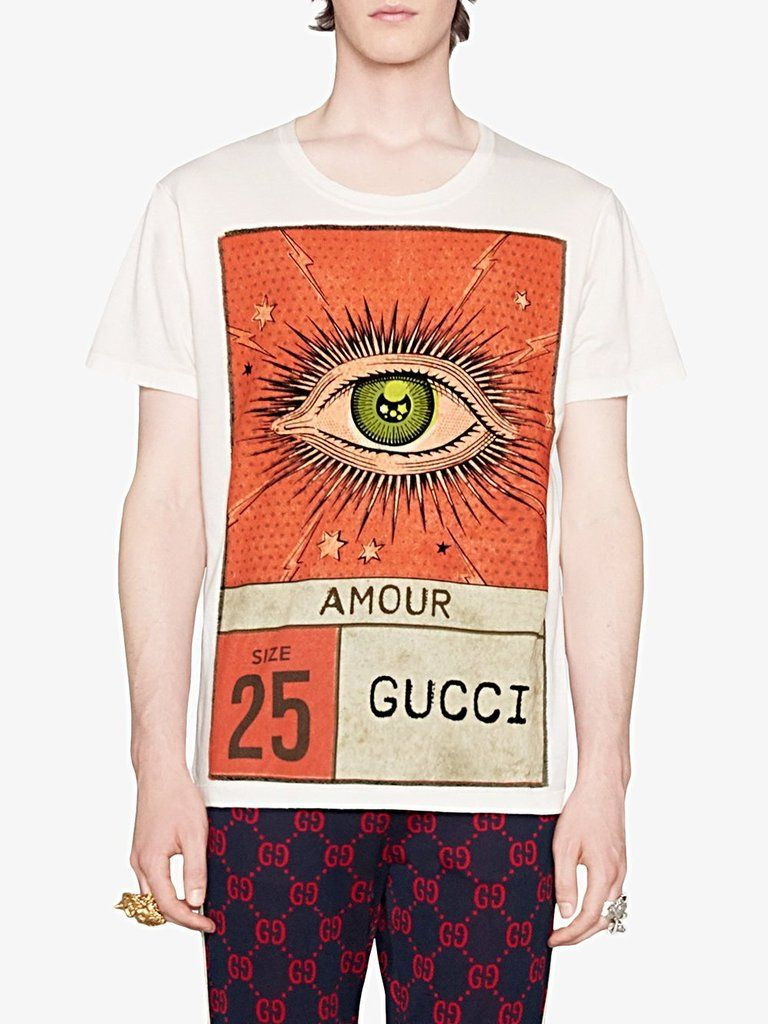 2018 gucci amour eye print tshirt tee shirts print t