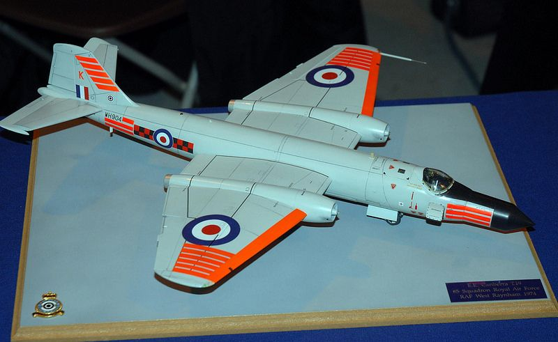 1/48 scale Canberra T.19, Cosford Model Show 2014. i like this www.airfixmodels.co.uk