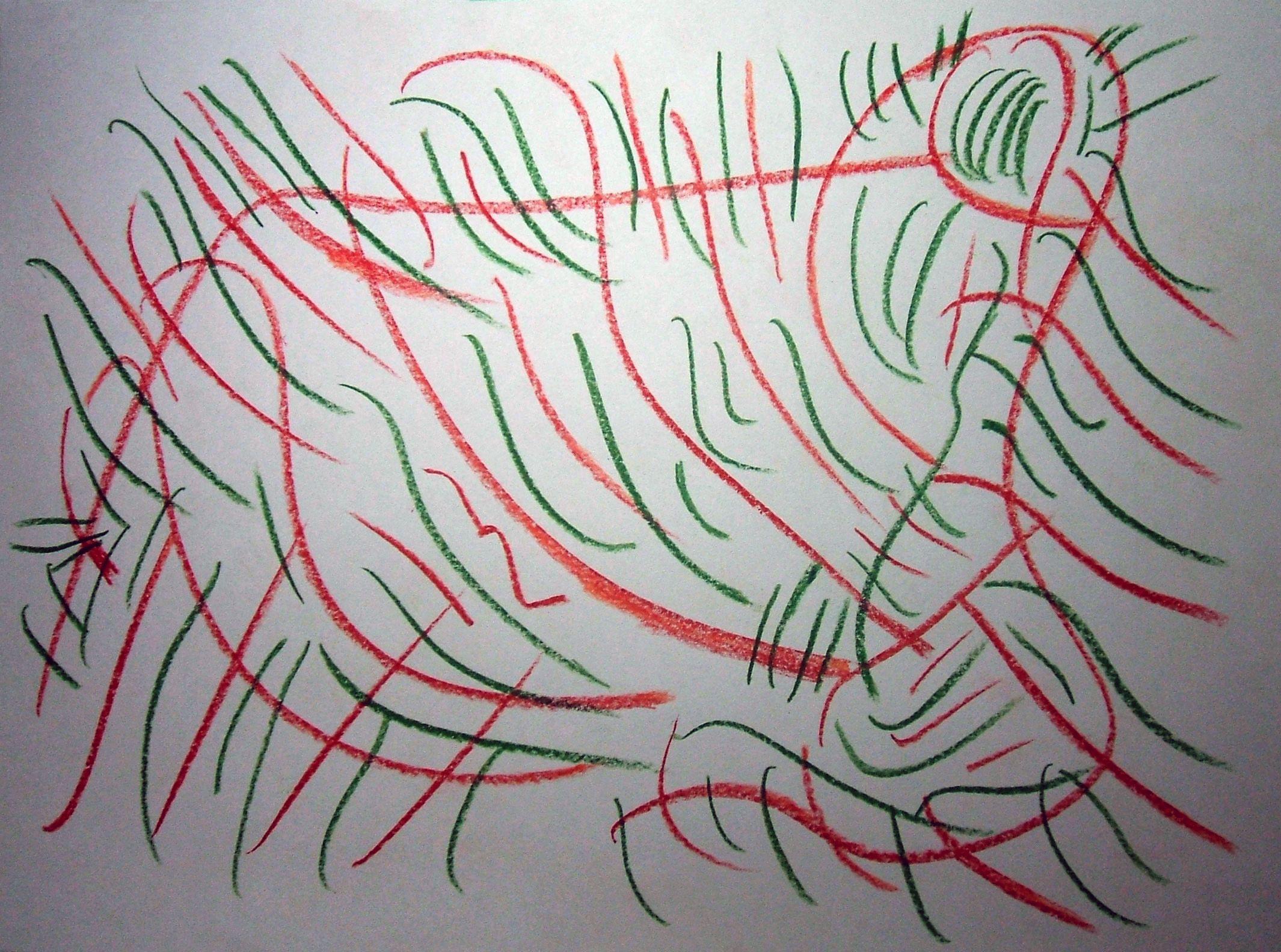 """Sgorbio V"" 2012 Matita a colori su carta 21x29,5 ©Pietro Gargano"