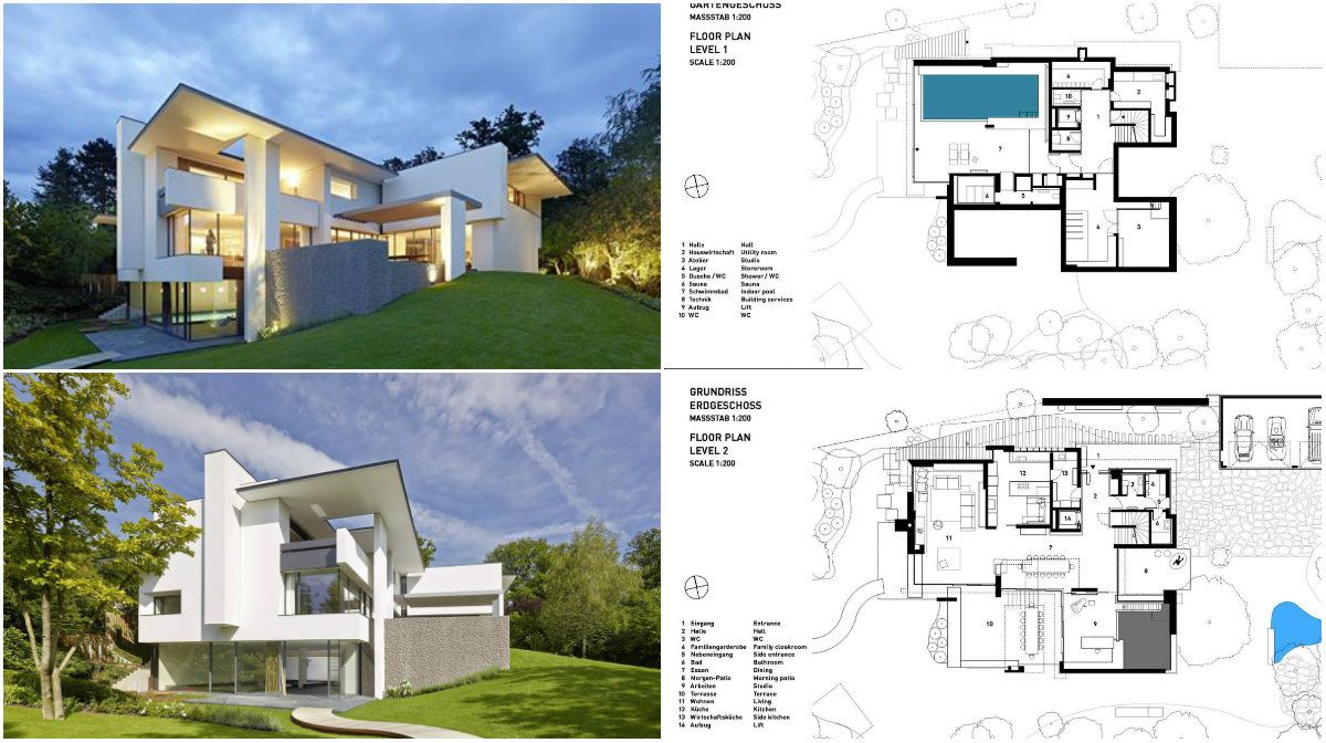 Artistic Villa Design With Huge Privileges For The Owners Architecture Admirers Villa Design Architecture House Plans
