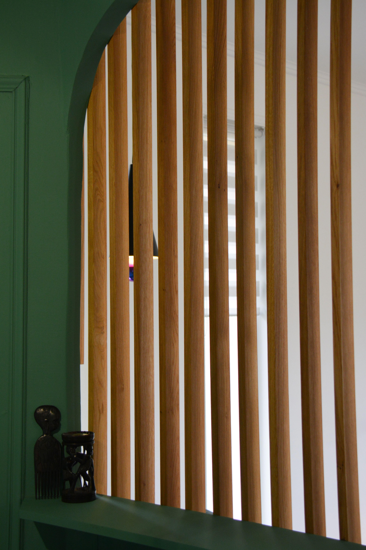 Bois Pour Brise Vue brise vue en bois pour séparer l'entrée du salon avec des