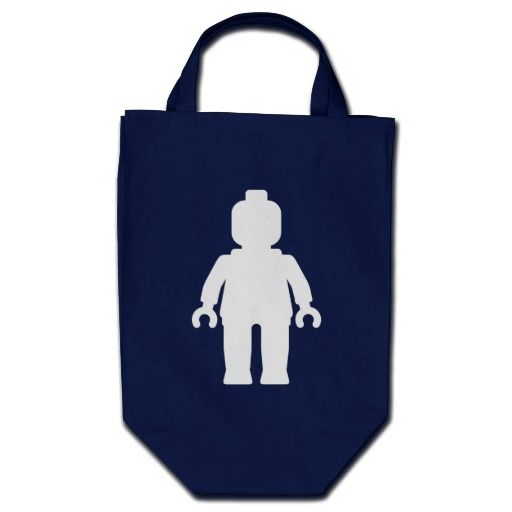 Minifig [Large White] by Customize My Minifig Canvas Bags