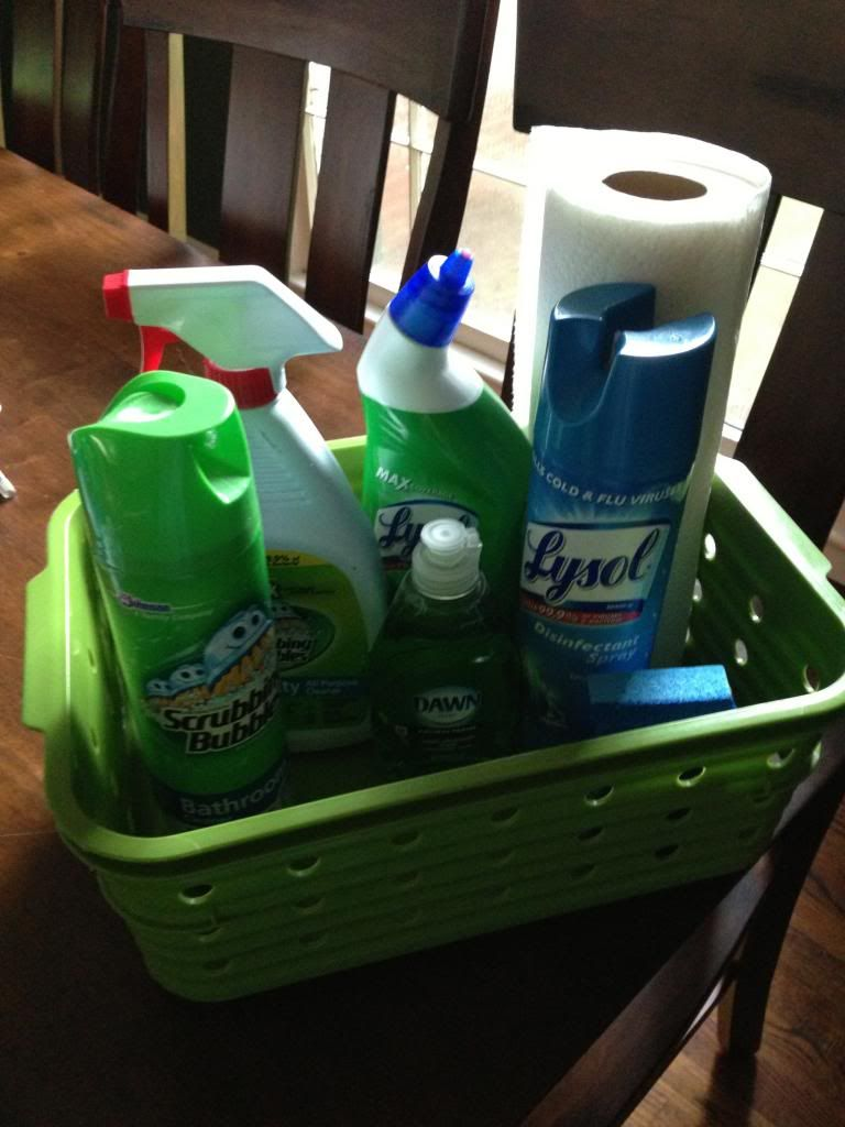 college cleaning supplies