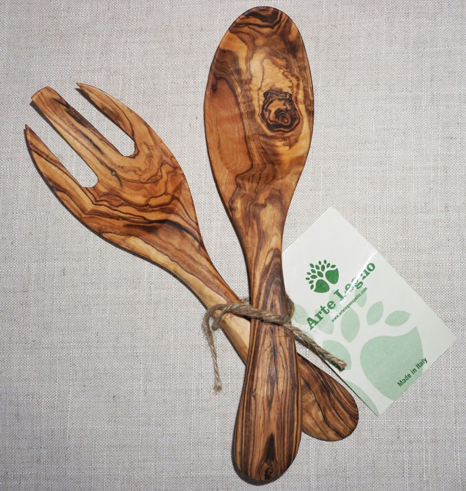 Artelegno Spoon Rest Details About Nwt Arte Legno 100 Solid Olive Wood Salad