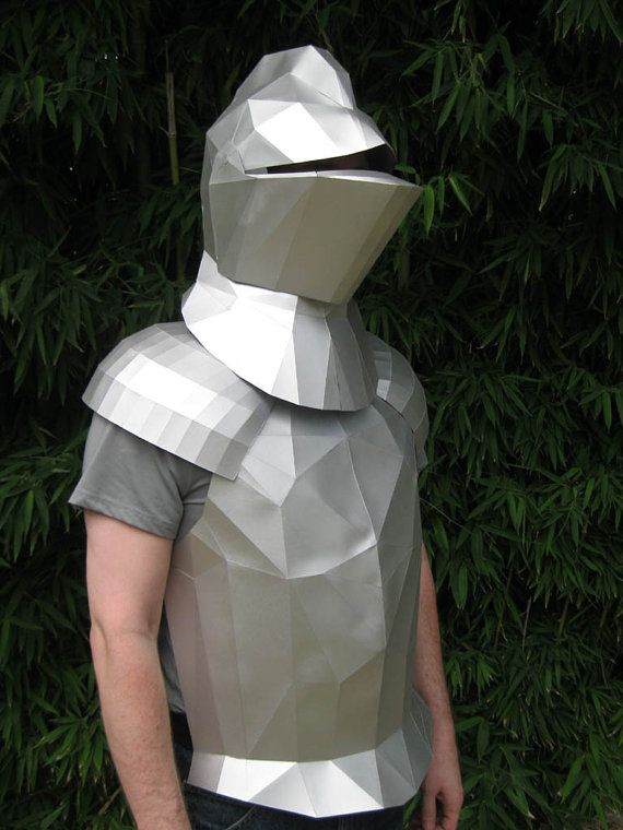 Make Your Own Medieval Knight Helmet with just by TetraVariations