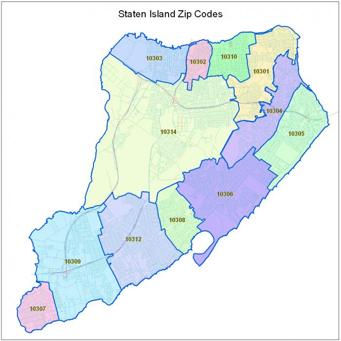 Zip codes in Staten Island   Staten Island Life   Pinterest