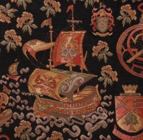 Sold Out Incredible Tapestry Fabric With Gothic Medieval Heraldry