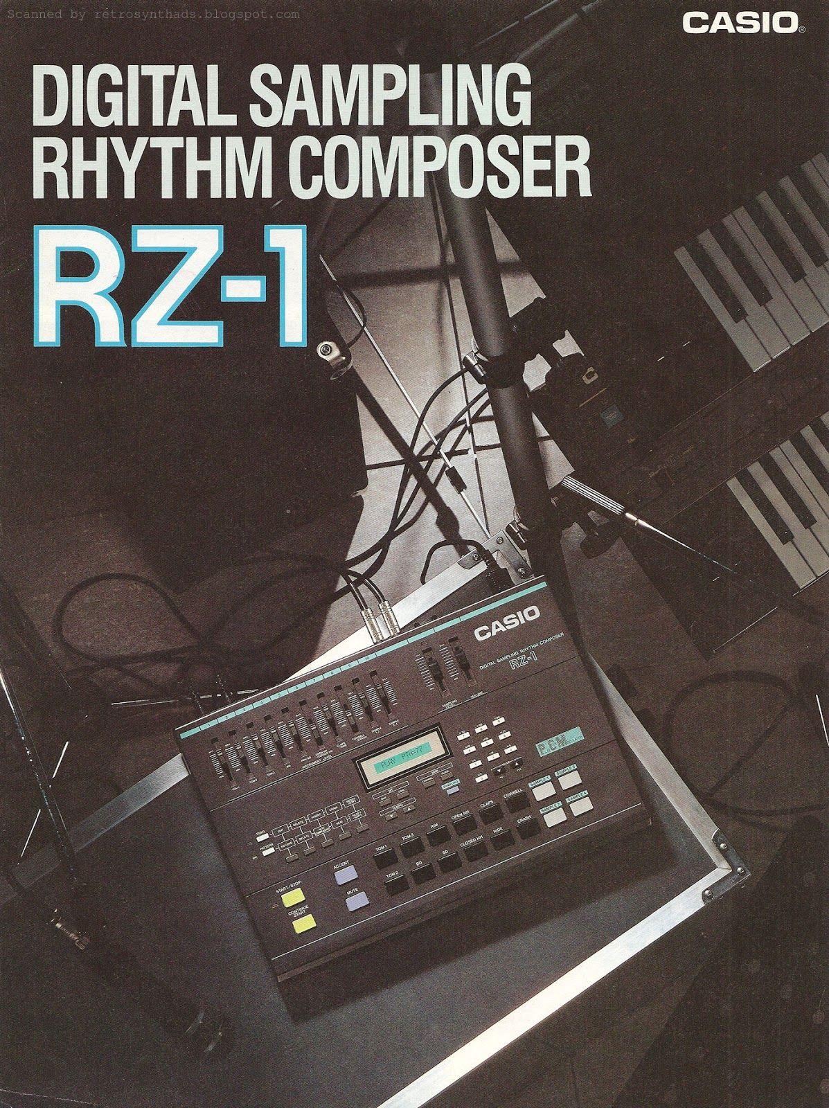Casio RZ-1 Digital Sampling Rhythm Composer Launched in 1986  (A