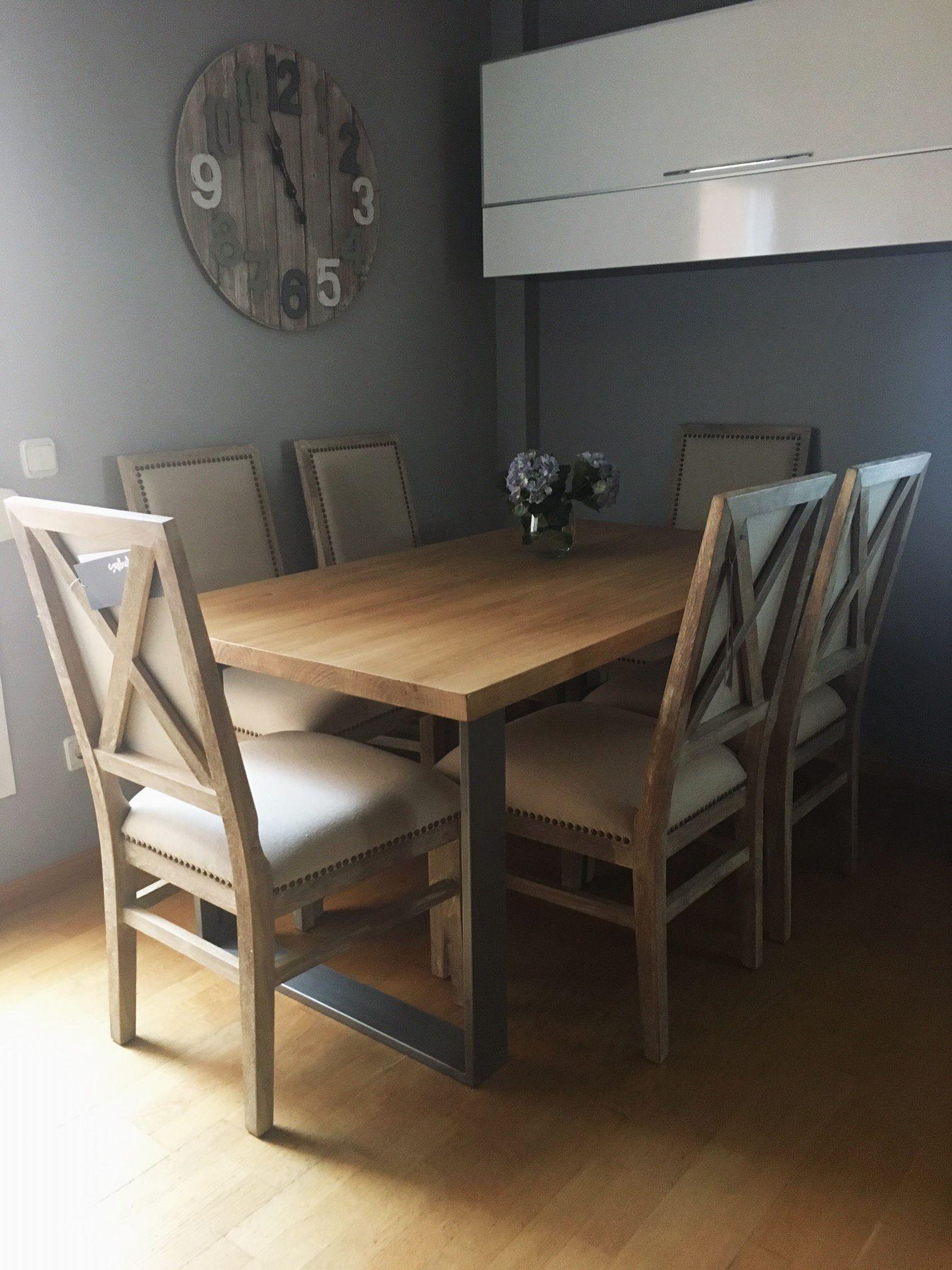 Mesa De Comedor Industrial Vanesa Woodies Trabajos Realizados  # Muebles Woodies