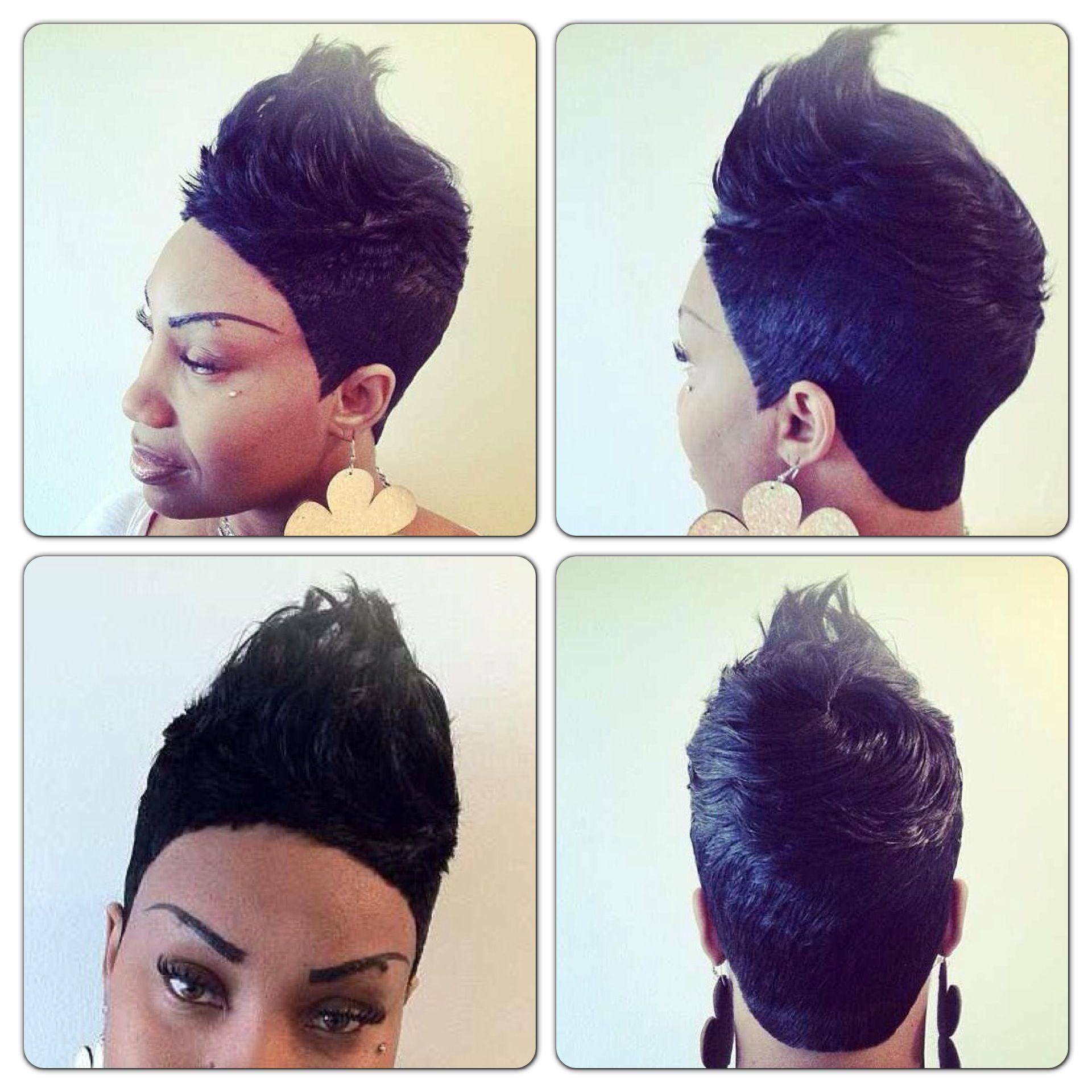 Short piece quickweave Hair Pinterest