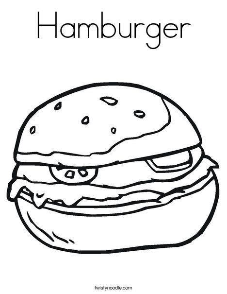 Hamburger Coloring Page Twisty Noodle Coloring Pages Coloring