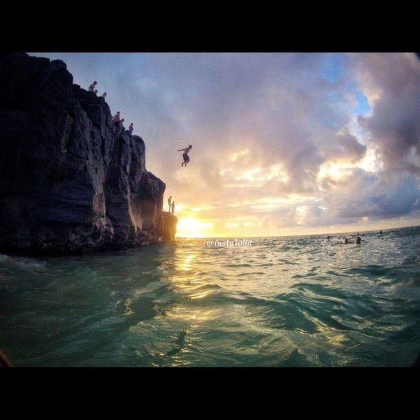Waimea Bay, HI. cliff jumping. A MUST!!