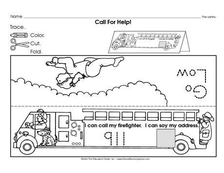 Safety At Home Worksheets For Kindergarten