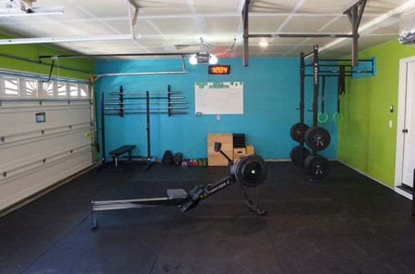 Fully committed garage gym all the essentials bars