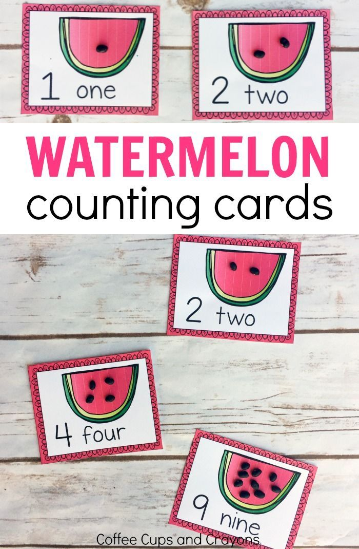 Printable Watermelon Counting Cards | Busy bags, Free printable and Math