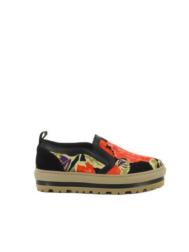 sale latest collections MSGM Velvet Platform Slip-On Sneakers authentic sale online cheap get to buy outlet 2014 unisex 0FnH2b7Eh6