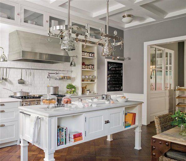 Cocinas con isla en medio image results - Cocinas vintage blancas ...