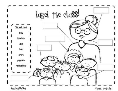 Label It Classroom Writing Kindergarten Writing First Grade Writing