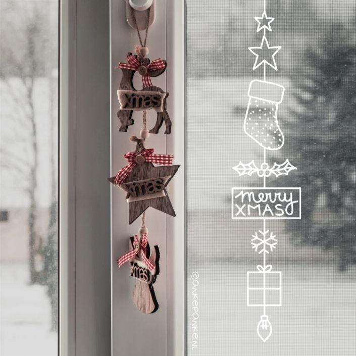 Kerstmis raamtekening