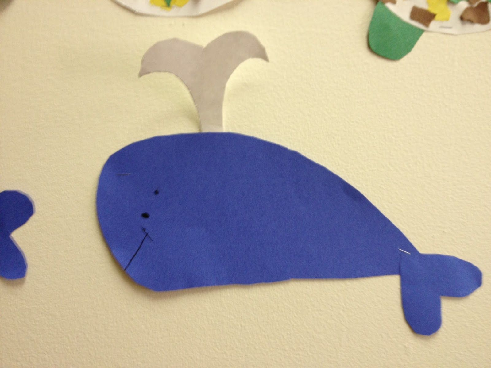 blue whale craft mrs hodge and her kindergarten kids