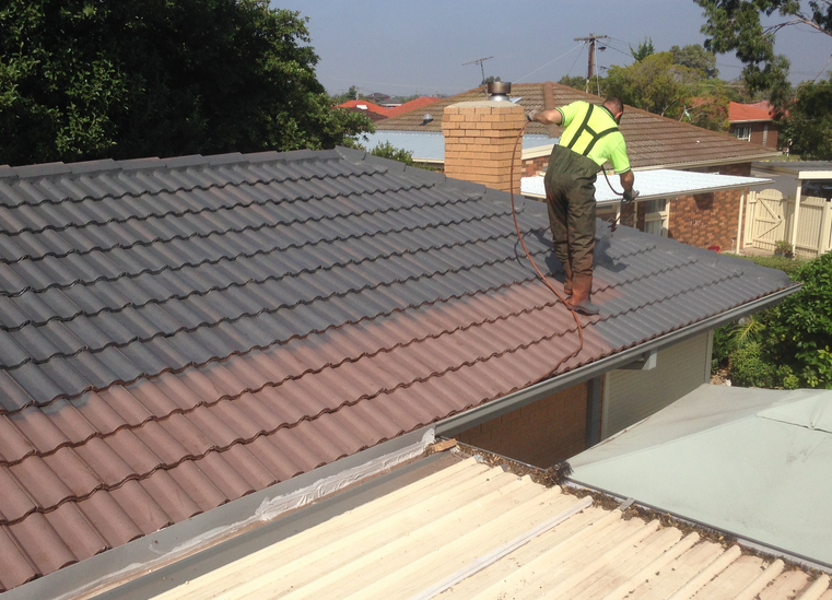 No Matter The Reason We Paint Roofs Of All Shapes Sizes Tiled Concrete And Colorbond Each Type Of R Terracotta Roof Tiles Terracotta Roof Roof Restoration