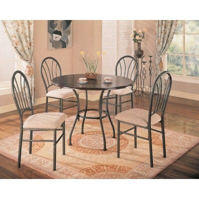 Halle 5pc dining set dark brown 120568 by coaster MyPriceForYou.com - Affordable furniture
