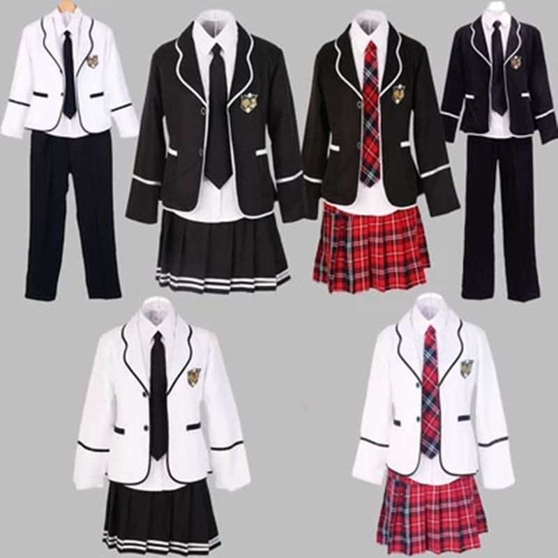 Students Long Sleeved School Uniforms Japan And South Korea Jk