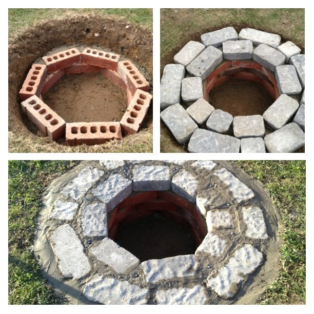 Underground Firepit I Just Made 2 Types Of Brick 6 Bags