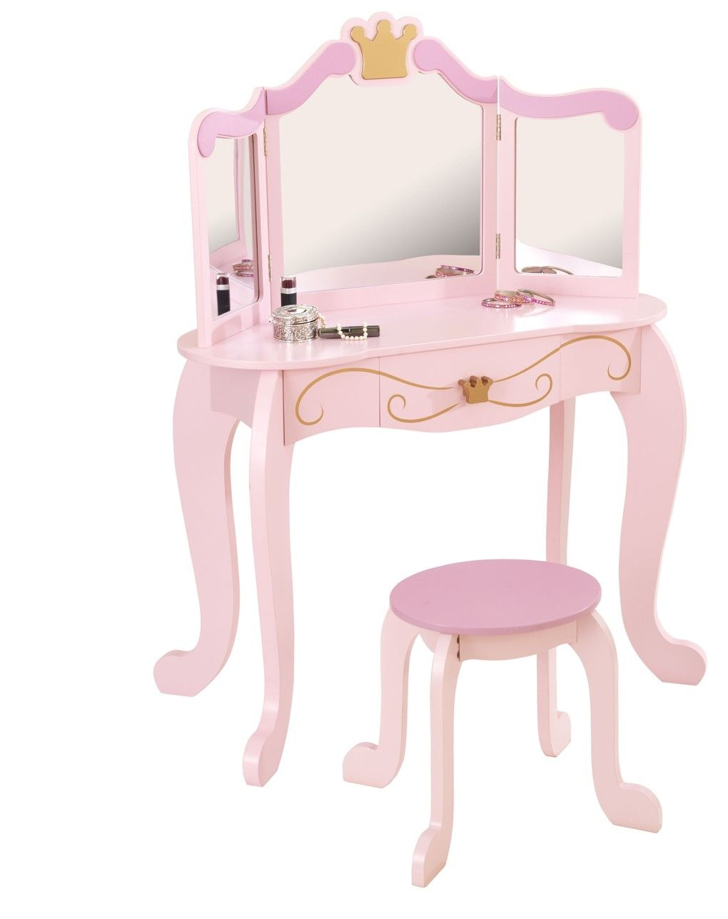 Childs Vanity Table Chair Set