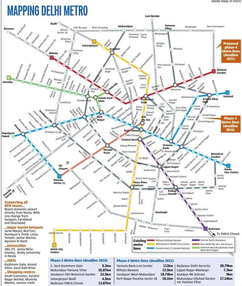 Delhi Metro Mapping Delhi metro, Metro map, Metro