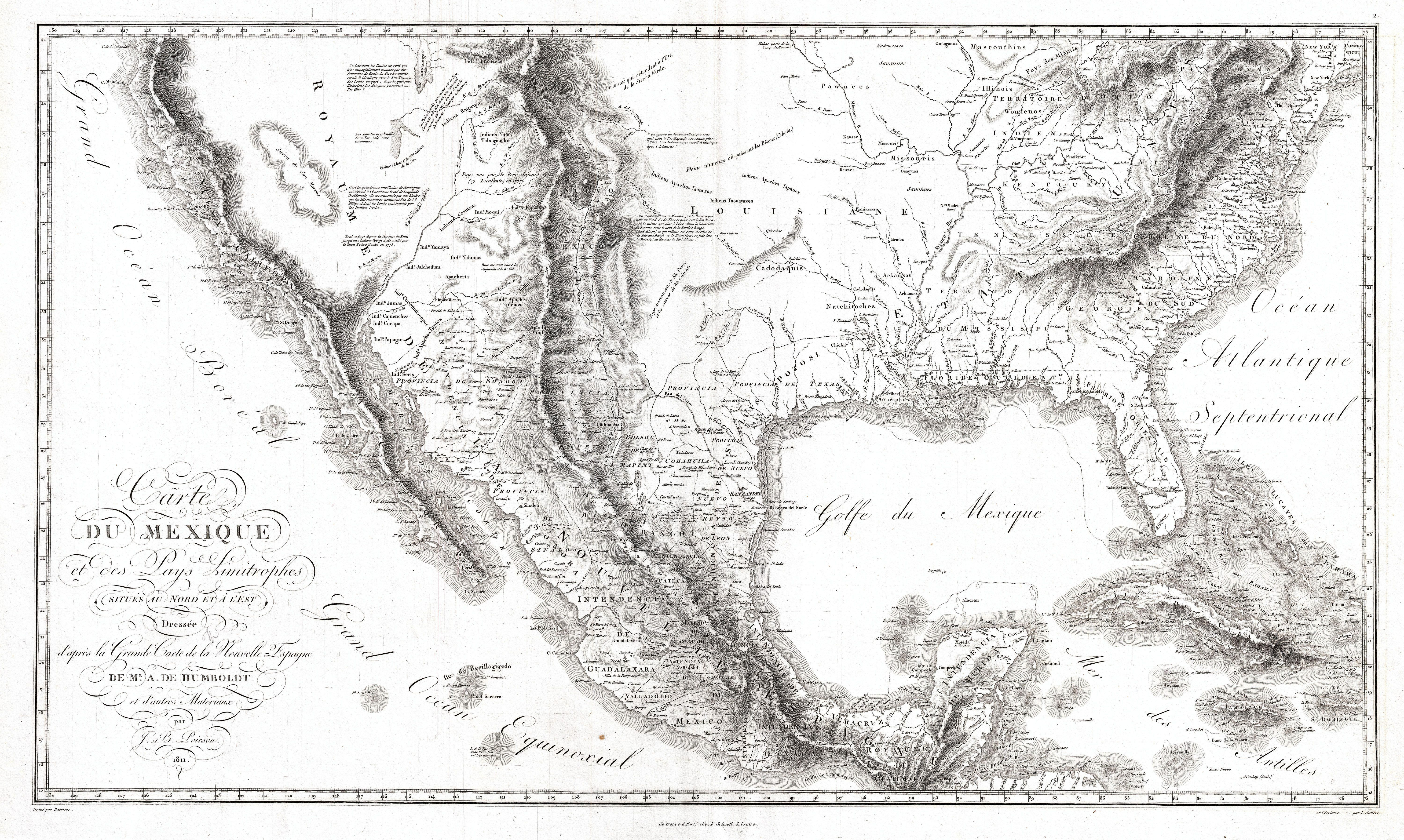 1811 Humboldt Map of Mexico, Texas, Louisiana, and Florida. | Mexico on map of mississippi, map of new jersey, map florida louisiana, map of oklahoma, map of arkansas, map of virginia, map of florida, map of new york, early maps of louisiana, map of california, map of michigan, map of alabama, map of south carolina, map arkansas louisiana, map of rhode island, map alabama louisiana, map of tennessee, map of georgia, map of kentucky, map of new mexico,