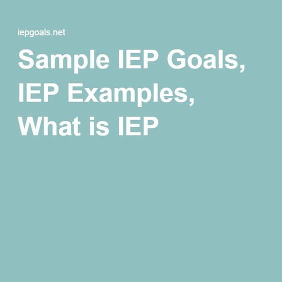 Free IEP Goal Bank