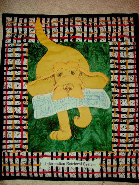 Information Retrieval System' by Phyllis Cullen | Dog quilts ... : quilts by phyllis - Adamdwight.com
