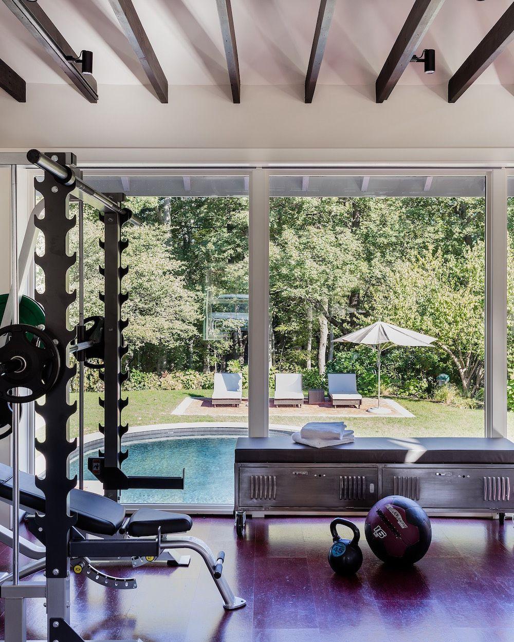 Interior Design Ideas For Home Gym: Brookline Carriage House- Elms Interior Design