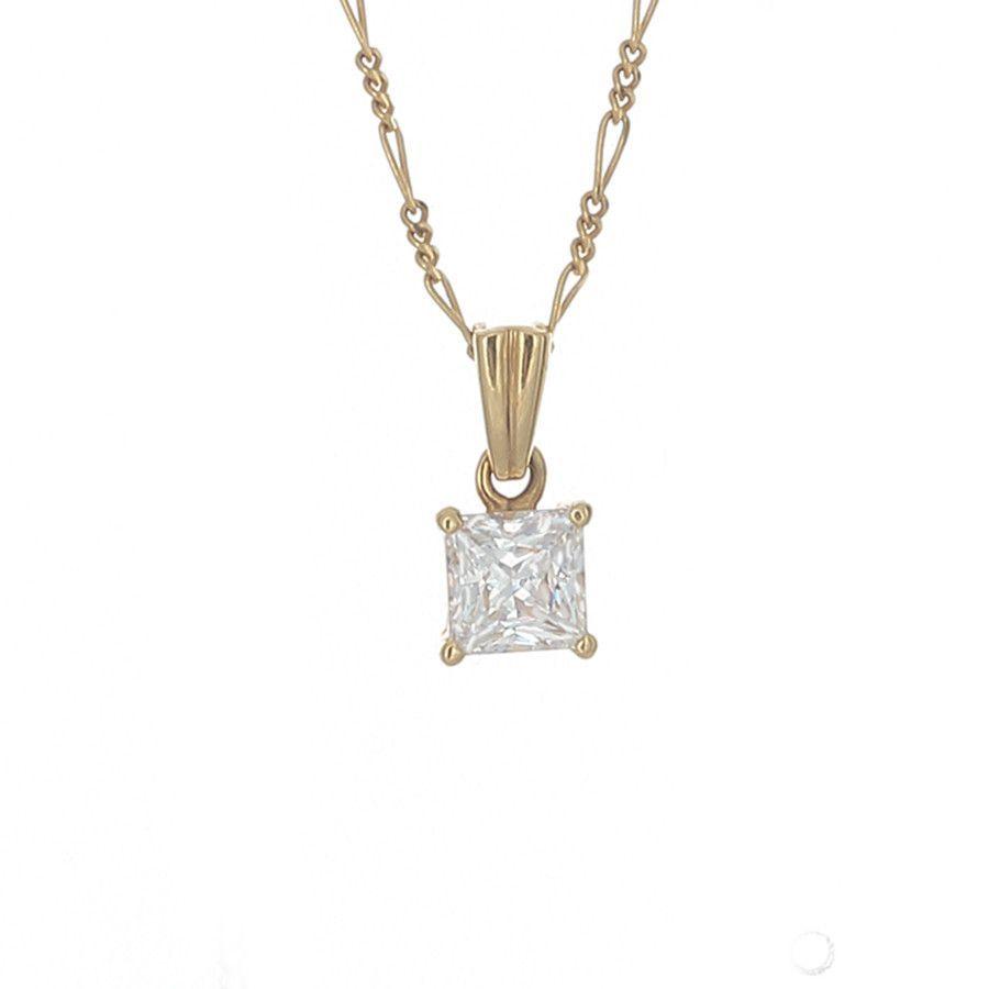 Desert diamond princess cut pendant necklace 1 12 carat 18k desert diamond princess cut pendant necklace 1 12 carat 18k gold aloadofball Gallery