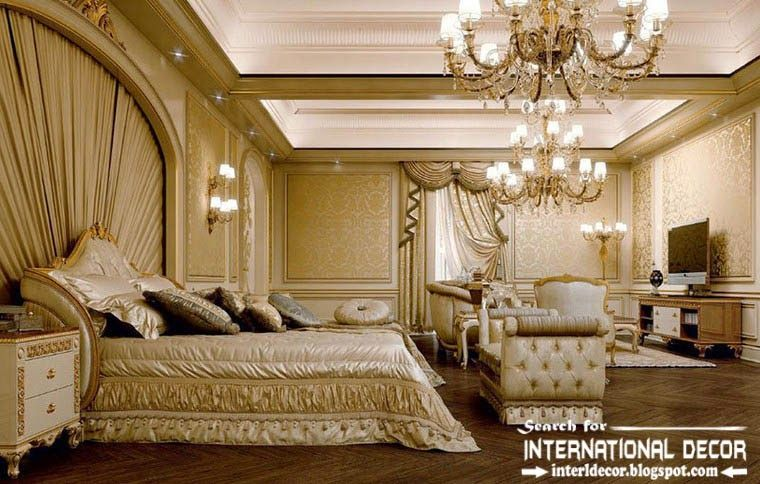 Luxury Classic Bedroom Interior Design Decor And Furniture Luxury Chandeliers Classic Interior Design Luxurious Bedrooms Classic Bedroom