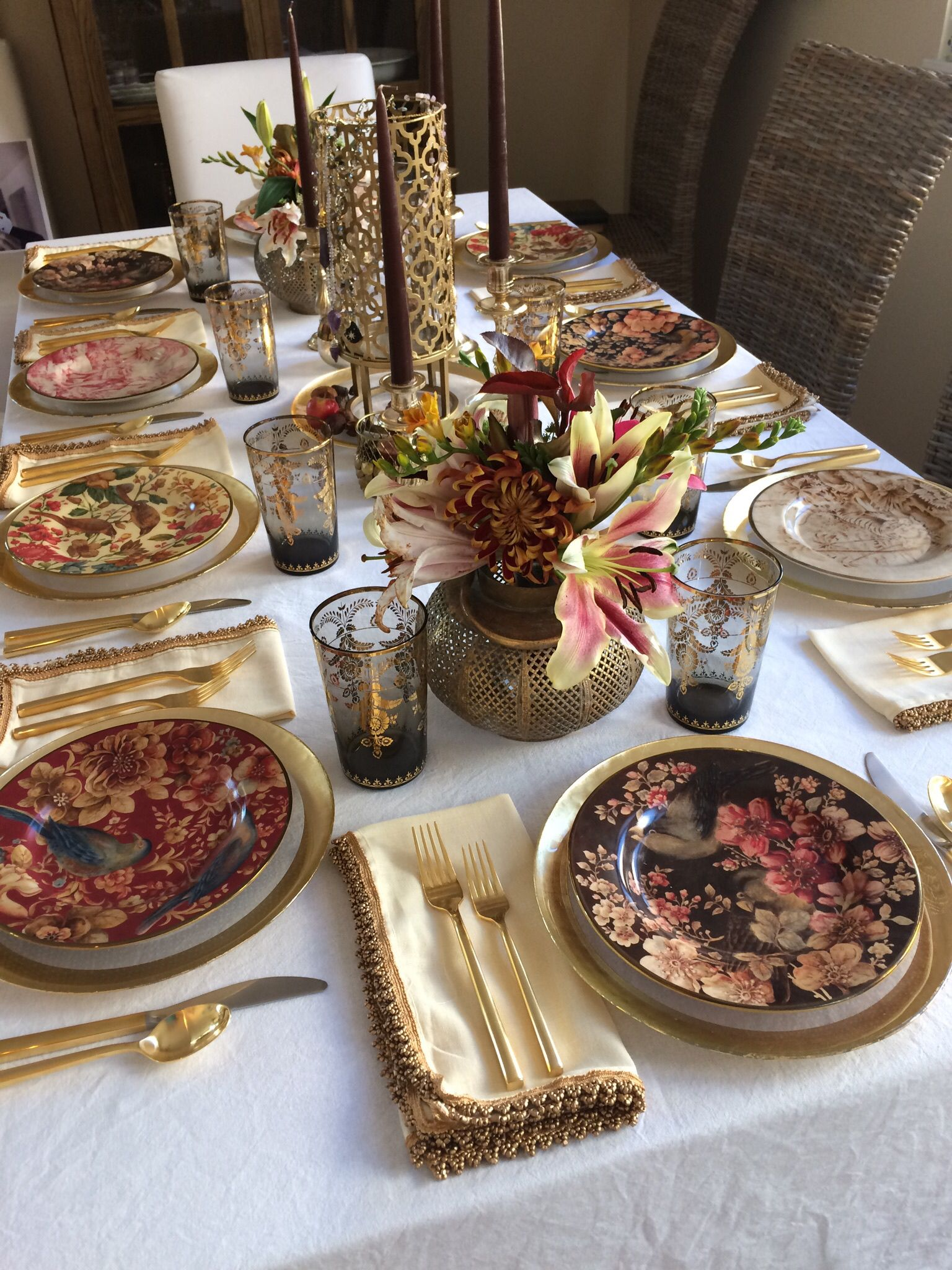 Pottery barn plates and glasses for thanksgiving pottery for Pottery barn thanksgiving