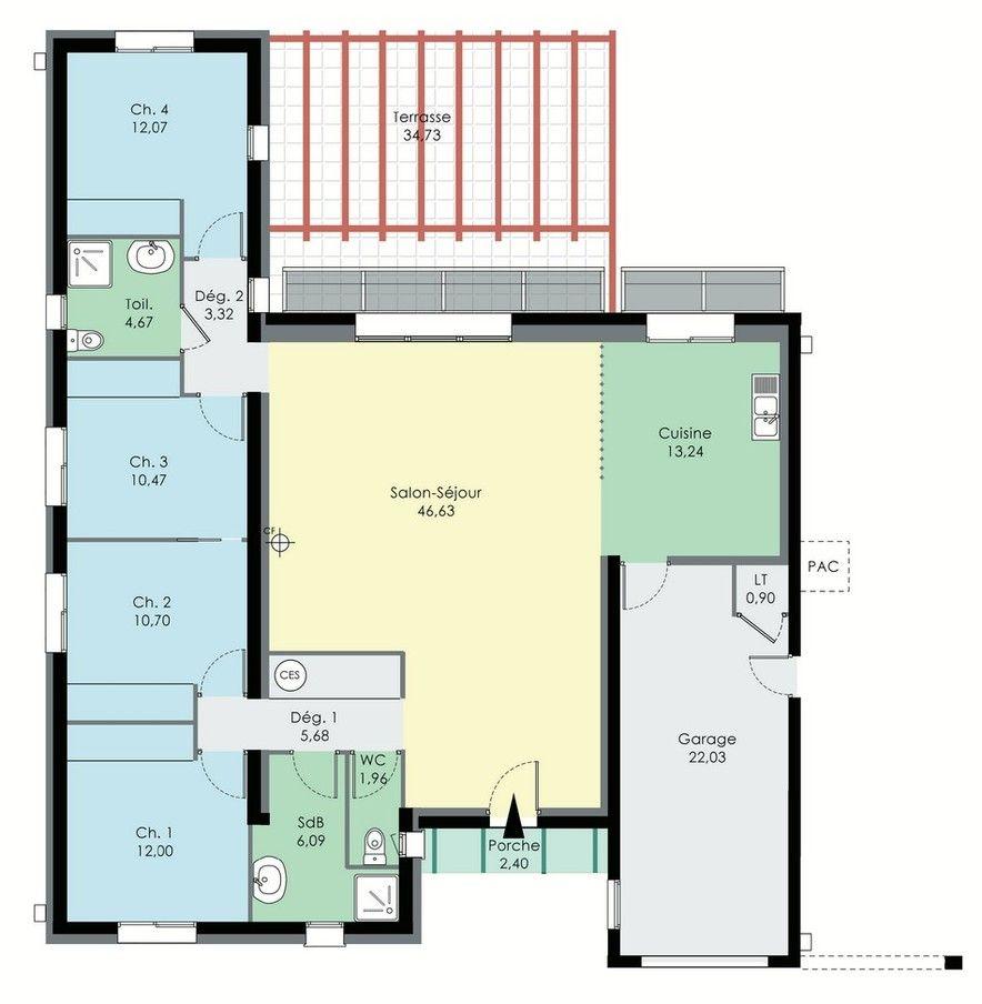 Mon bureau chambre 3 et garage divis en 2 pour faire un cellier home sweet home house for Plan maison 3 chambres et un bureau
