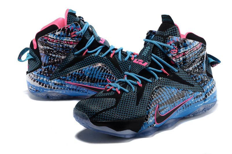 #Sneakers #shoes LeBron 12 23 Chromosomes Black Pink Blue Lagoon Pink Pow  684593 006