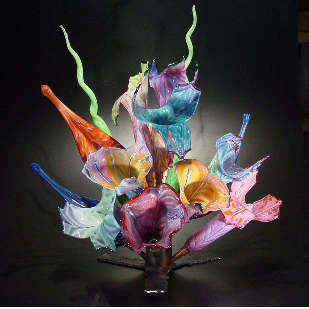 Happy valentines weekend my glorious glass art lovers here is a hand blown glass floral bouquet vase the glass forge oregon reviewsmspy