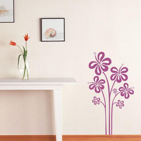 Adesivo decorativo de parede - flores.