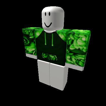 EXCLUSIVENeon Green Floral Hoodie - ROBLOX