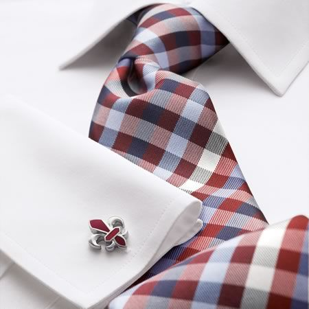 Red & blue multi-check woven tie | Men's woven silk ties from Charles Tyrwhitt | CTShirts.com
