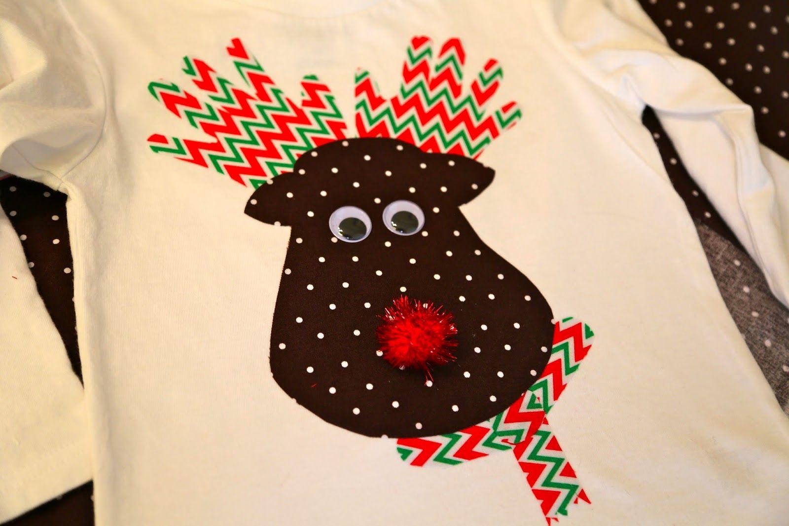 Diy Handprint Reindeer Shirts Toddler Shirts Christmas