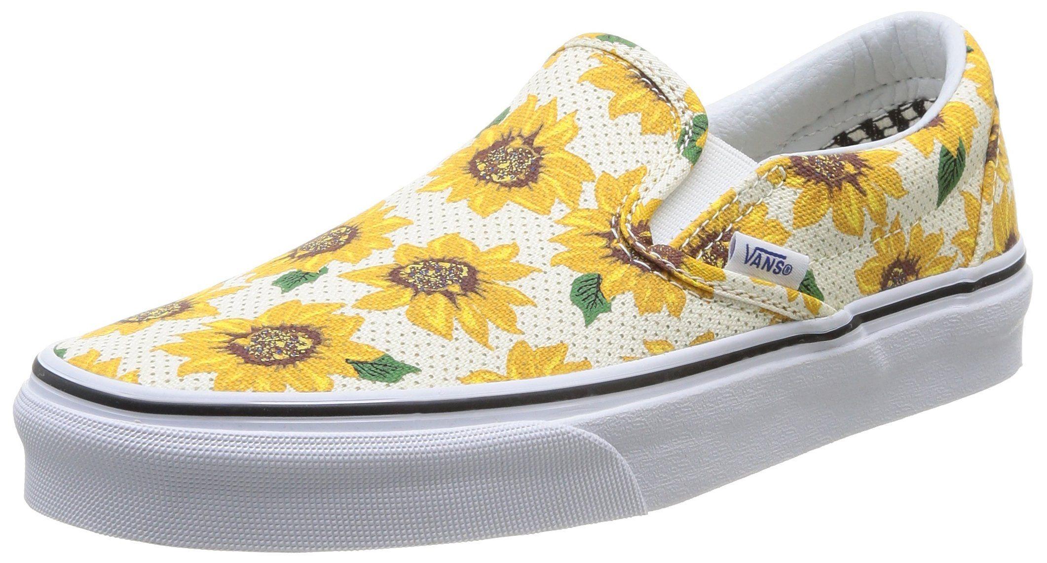 Antecedente competencia Capilares  Amazon.com: Vans' Unisex Sunflower Slip On: Clothing | Vans classic slip on,  Slip on shoes, Vans